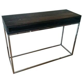 Dark Wood & Stainless Steel Desk