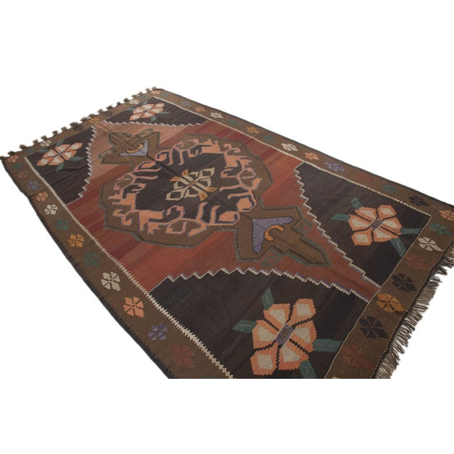 "Hand-Woven Turkish Kilim Rug - 6'7"" X 11'3"" - Image 3 of 10"