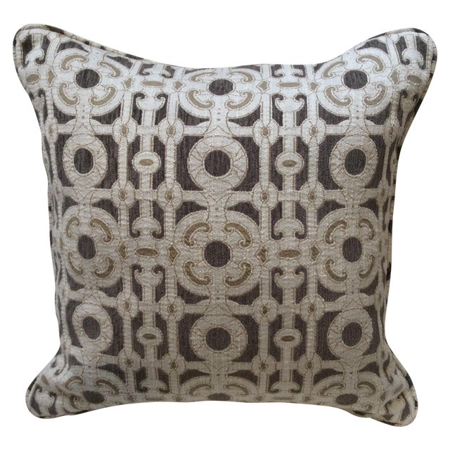 Cream & Brown Custom Pillow - Image 1 of 8