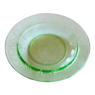 Depression Glass Flat Rim Soup Bowl