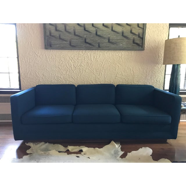 1970s Marden Mid-Century Blue Upholstered Sofa and Chair - Image 2 of 11