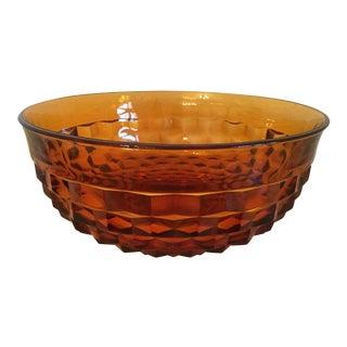 Mid-Century Amber Bowl