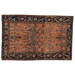 "Antique Persian Sarouk Rug - 4' x 6'4"""