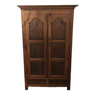Vintage Style Rustic Wood Armoire