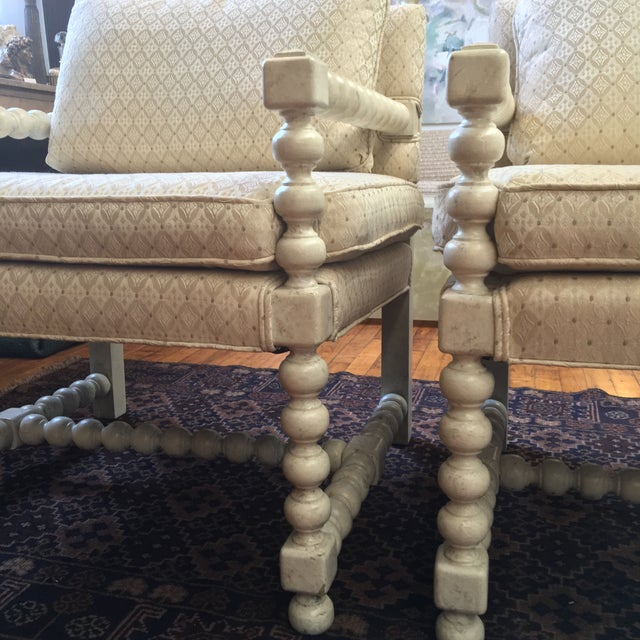 Mid-Century Turned Wood Chairs - A Pair - Image 4 of 7