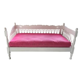 Huge Pink & White Moroccan Daybed Sofa