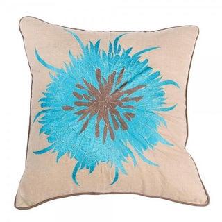 """Blue Bloom Pillow - 20"""" x 20"""""""