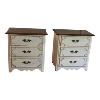 Drexel French Countryside Bedside Chests - a Pair
