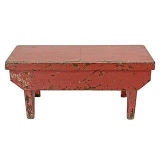 Primitive Coral Foot Stool