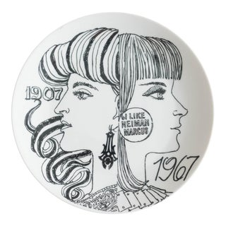 Vintage 1967 Neiman Marcus Anniversary Plate by Piero Fornasetti