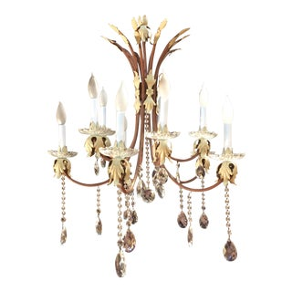 10-Arm Crystal Chandelier