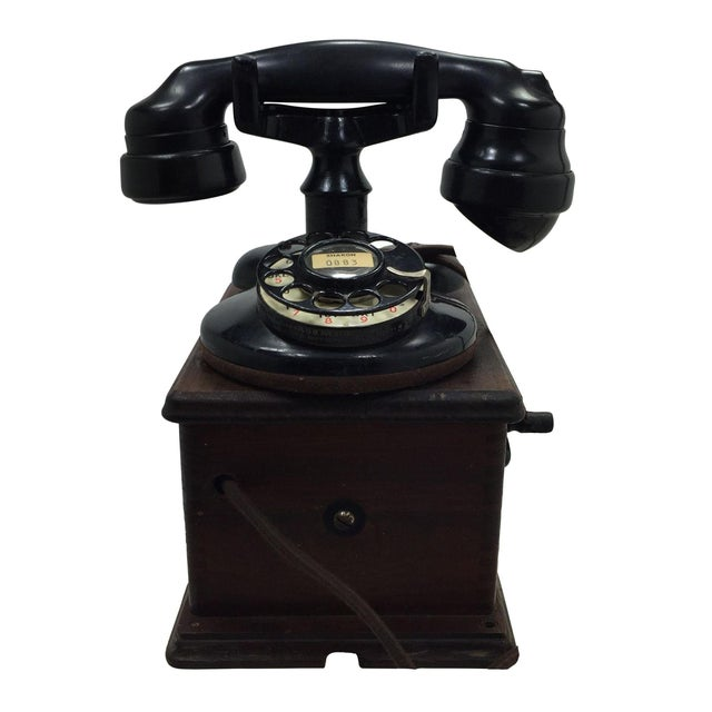 Antique 1920s Western Electric A1 Rotary Dial Telephome - Image 1 of 11