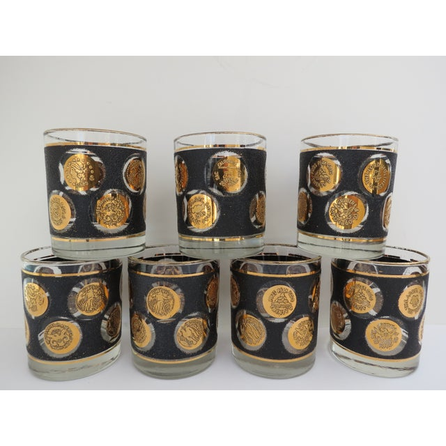 Image of Gold Coin Lowball Glasses - Set of 7
