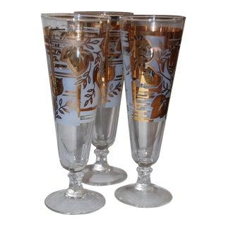 Hazel Atlas Pilsner Glasses - Set of 3