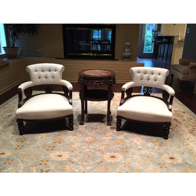 Antique Victorian Tub Chairs - Image 11 of 11