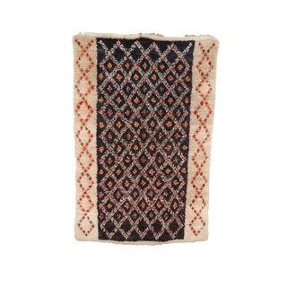 Vintage Kilim Beni Ourain Style Rug - 4′10″ × 7′3″