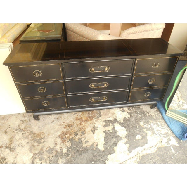 Image of American of Martinsville Black Lacquer Dresser