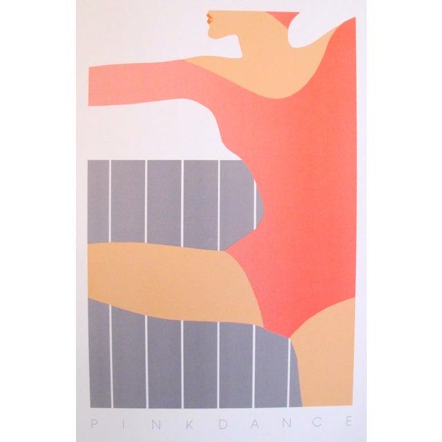 1983 Vintage Pink Dance Poster - Image 1 of 2