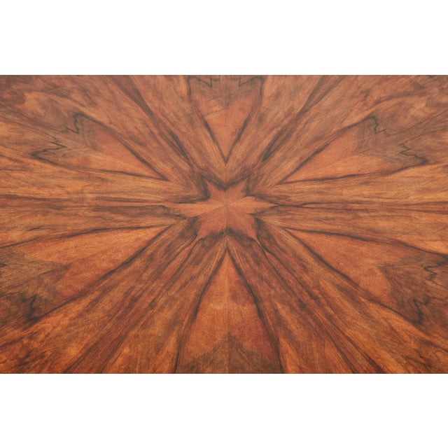 Italian Empire Deep Brown Walnut Center Table - Image 8 of 9