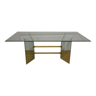 Pace Style Glass & Brass Dining Table