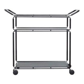 Pilastro Style Metal Bar Cart