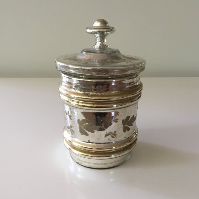 Antique Mercury Glass Covered Candy Dish - Image 2 of 5
