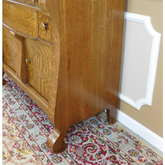 antique tiger oak empire style sideboard chairish