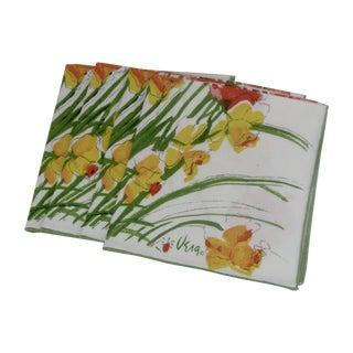 1960s Vera Neumann Daffodil Napkins - Set of 4