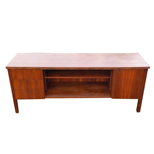 Mid Century Modern Wood Credenza - Image 2 of 6