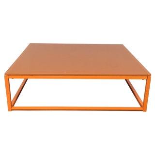 Crate & Barrel Modern Orange Coffee Table
