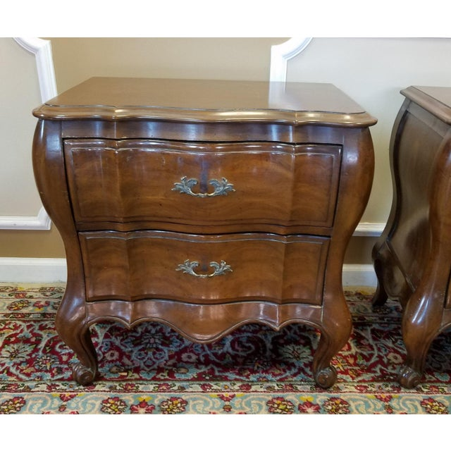 Pair White Furniture Company Fruitwood French Provincial