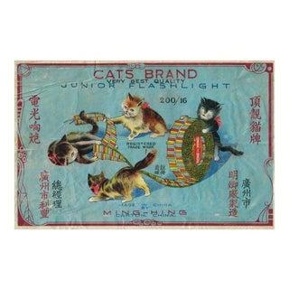 Vintage Cat Firecracker Label Archival Print