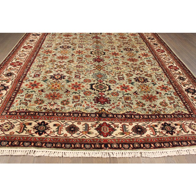 "Hand-Knotted Mahal Wool Rug - 8' x 9'8"" - Image 2 of 5"