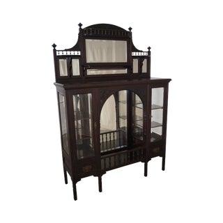 Antique Mahogany Art Nouveau Display Cabinet