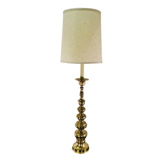 Vintage Tall Graduated Brass Lamp