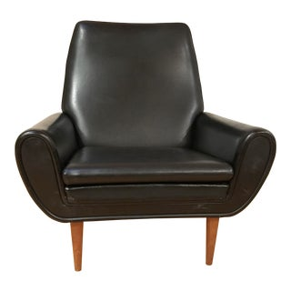 Mid-Century Danish Modern Black Club Chair