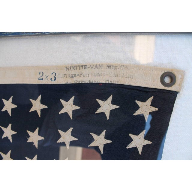 Early 20th Century 48 Star Ships Framed Flag - Image 3 of 4