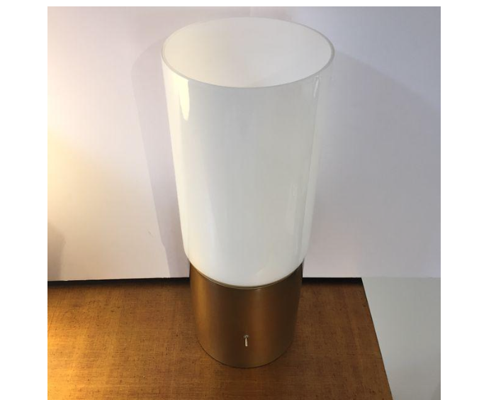 Open Top Glass Tube Table Lamps   A Pair   Image 7 Of 7
