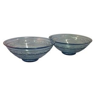 Depression Era Glass Serving Bowls - Set of 2