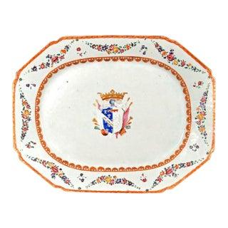Italian-Market Chinese Export Armorial Dish for the Marchesi DI Sorbello