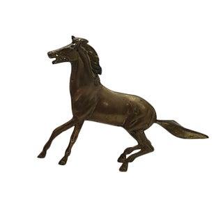 Solid Brass Horse Sculpture