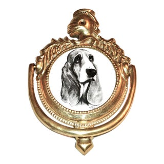 Vintage Basset Hound Door Knocker