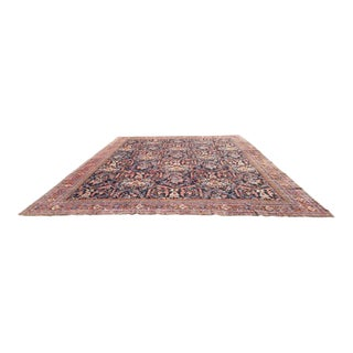 Antique Persian Sultanabad Mahal Hand Made Knotted Rug - 12'8'' x 16'