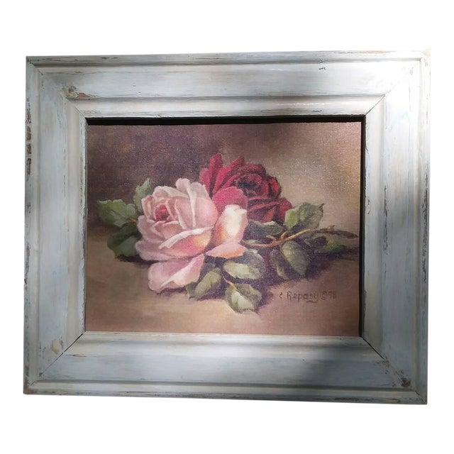 Christie Repasy Wine & Pink Roses Shabby Chic Painting - Image 1 of 5