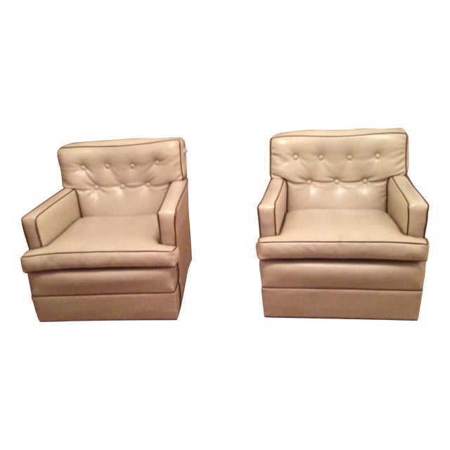 Mid-Century Modern Swivel Chairs - A Pair - Image 1 of 6