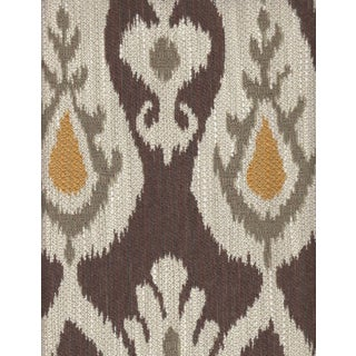Kravet Ikat Kilim Fabric in Brown, Beige, and Orange - 3.125 Yards