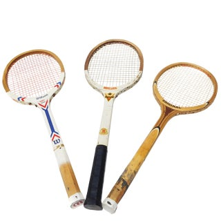 Vintage Wilson & Regent & Original Mid-Century Tennis Rackets - Set of 3