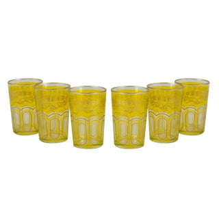 Bahia Yellow & Gold Tea Glasses - Set of 6