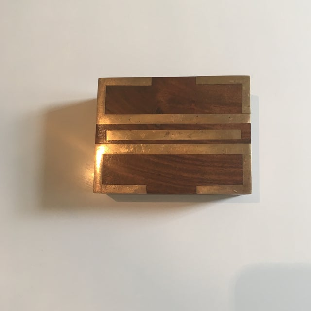 Wood Box With Brass Inlay - Image 2 of 8