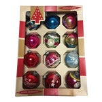 Image of Vintage Glass Christmas Ornaments in Box